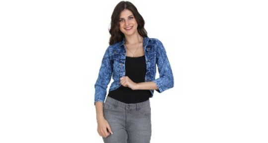 fancy denim jacket for girls