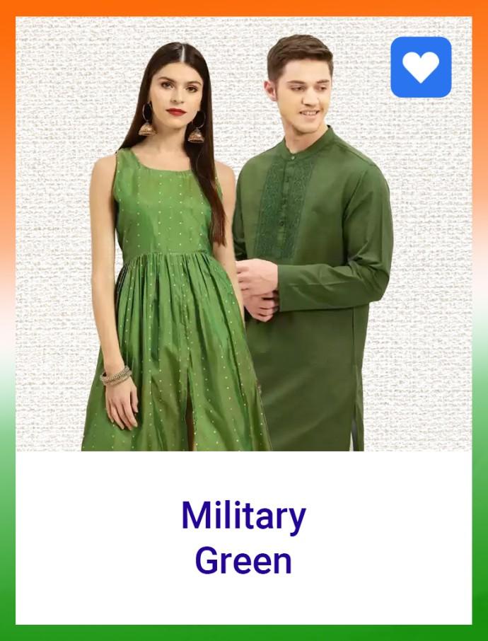 military green flipkart