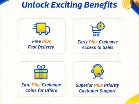 Unlock Exciting Benefits like Free Delivery, superior customer support and more