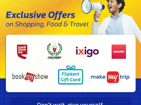 Still not convinced? Avail Exclsuive Offers on Shopping, Food & Travel