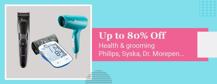 Up to 80% OFF Health & Grooming