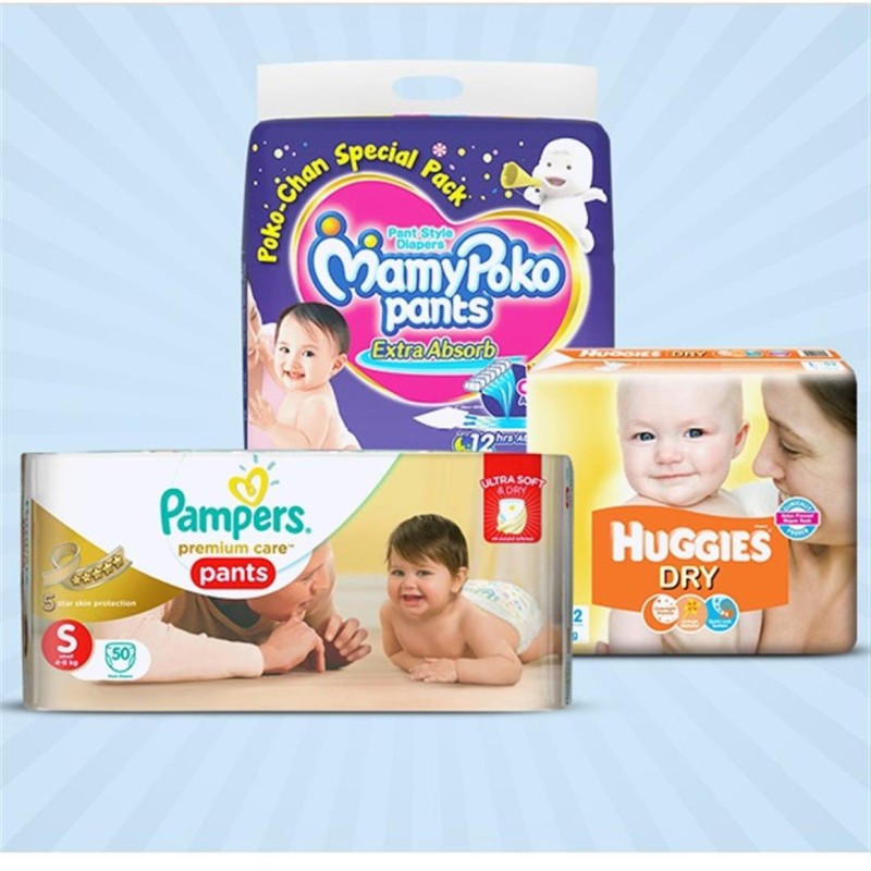 Flipkart - Pampers, Mamypoko, Huggies... Up to 35% + 5% Off