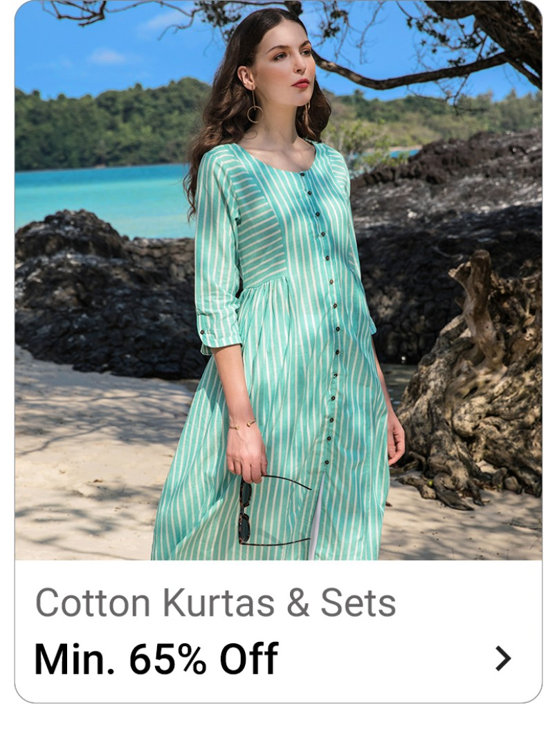women cotton kurta flipkart