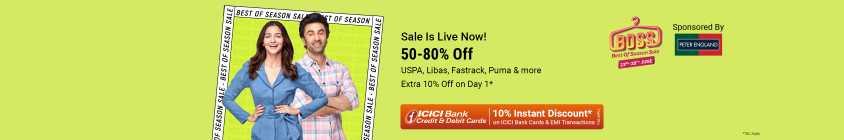 50-80 OFF + Extra 10% off on Flipkart Fashion Sale