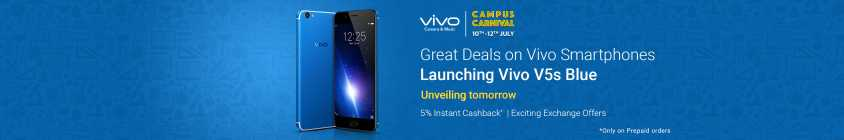 Vivo Campus Carnival Starts @ 9990 From Flipkart