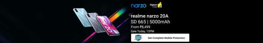 Realme Narzo 20A Sale today