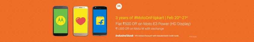 Flipkart Moto Days Offer - Flat 10% Instant Discount Using Induslnd Bank