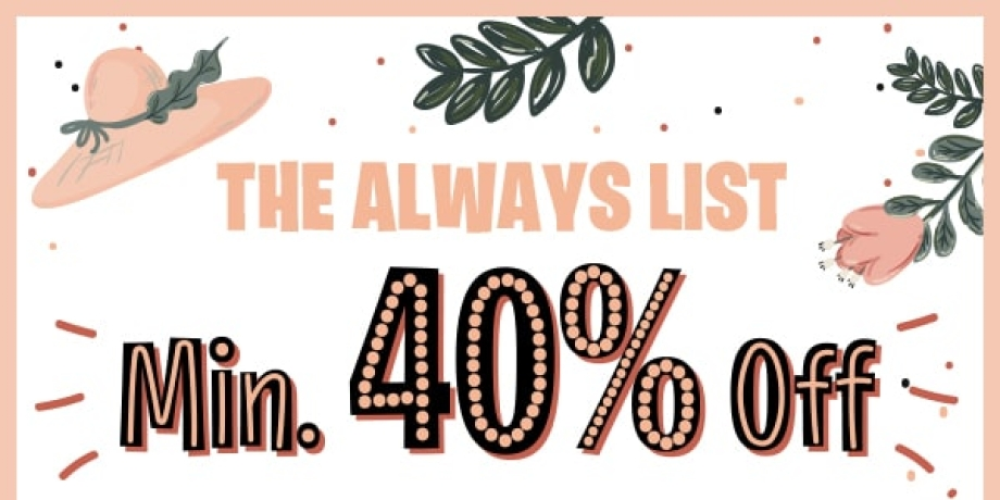 Min.40% Off on   all Products!