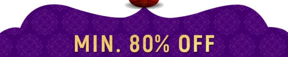 Min. 80% OFF