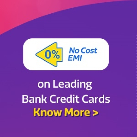 No Cost EMI* available on leading Bank Card. Click to know more >