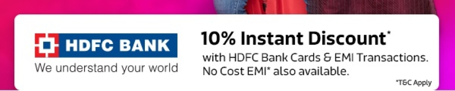10% Instant Discount* with HDFC Cards