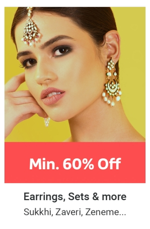 Earrings at Min.60% Off