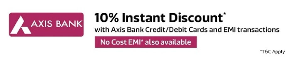 10% Instant Discount with Axis Bank