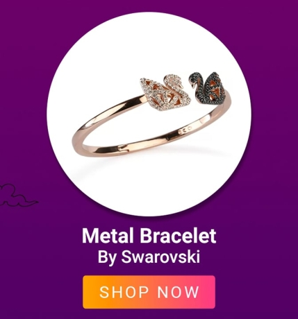 Metal Bracelet By Swarakovski
