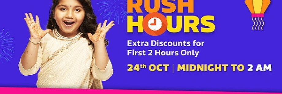 Rush Hours > Extra Discount for first 2 hours of Sale