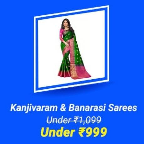 Kanjivaram & Banarasi Sarees