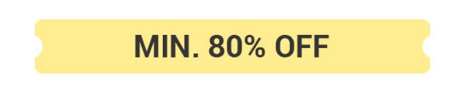 Min.80% Off