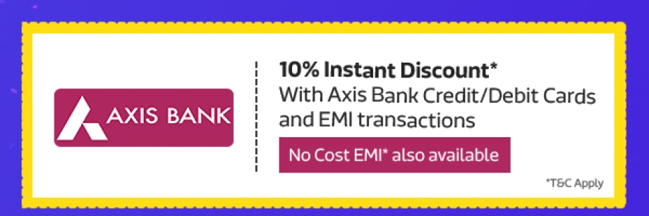 Get 10% Cashback* from Axis Bank