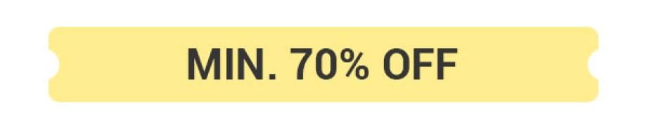 Min.70% Off