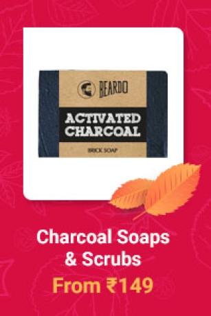 Charcoal Soaps & Scrubs