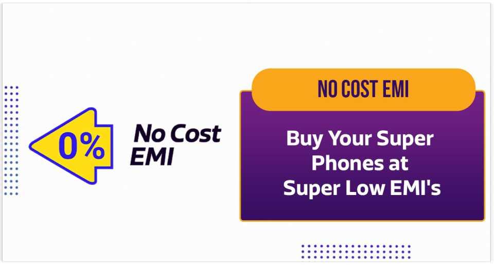Avail super low No Cost EMIs