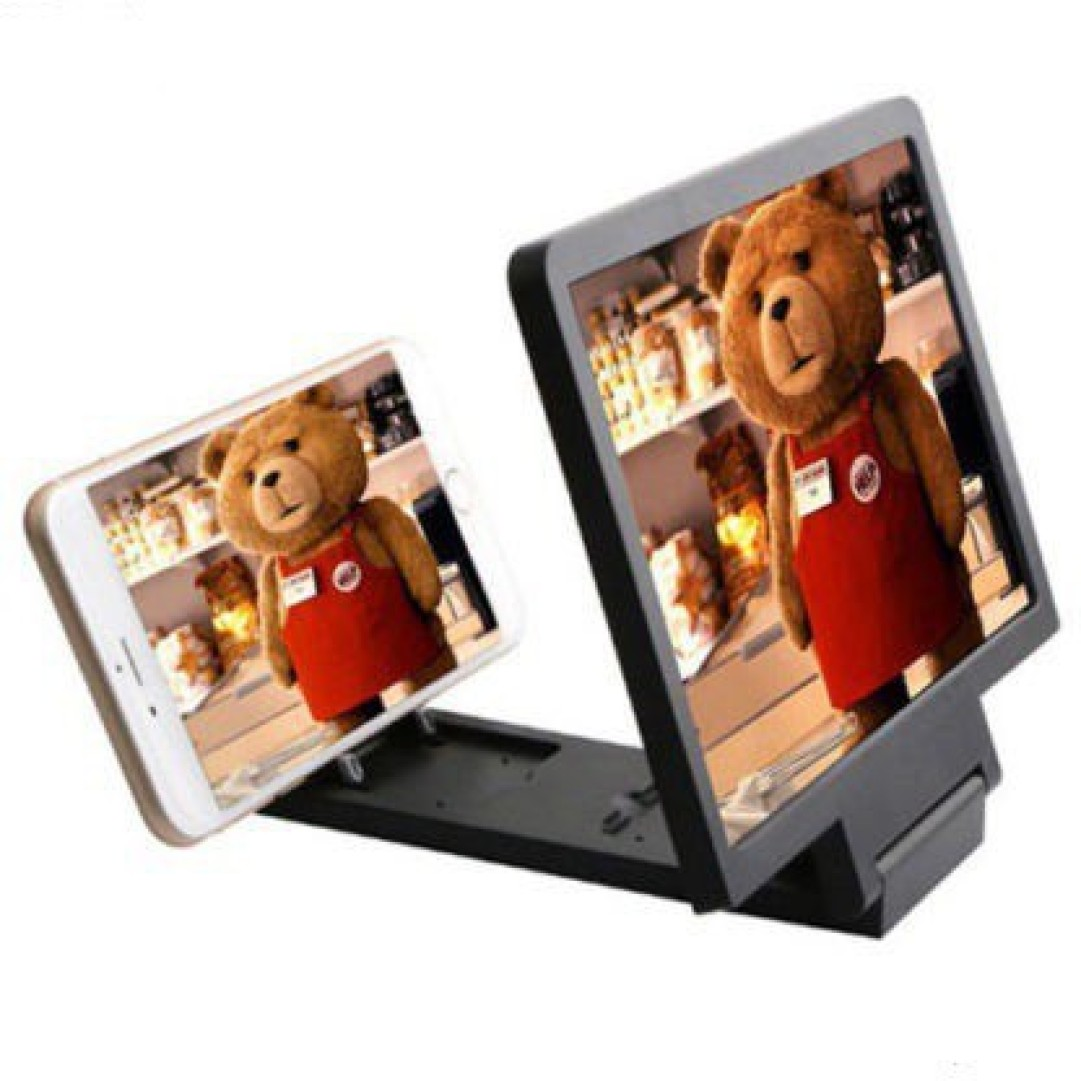 TechGear 3D F1 Screen Magnifier 3D Video Screen STAND Amplifier Eyes Protection Enlarged Compatible with Smartphone Screen Expander Phone at Rs.233