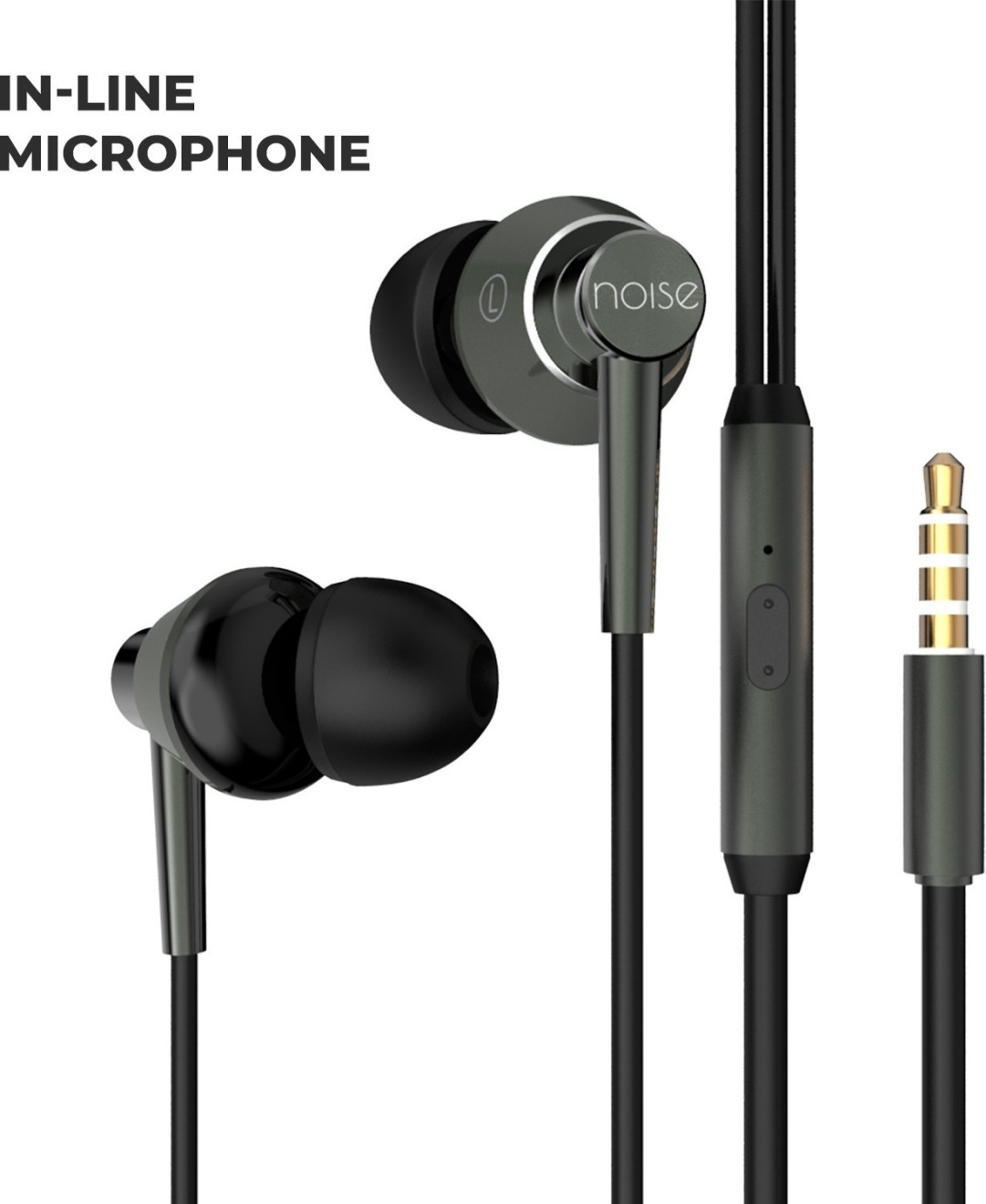 Noise YR1 Wired Headset with Mic(Graphite Grey, In the Ear) at Rs.399