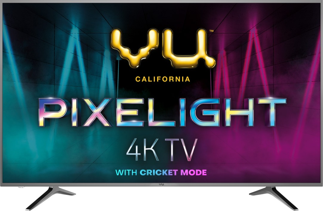 VU 108 cm (43 Inches) Smart 4K Ultra HD LED TV Pixelight 43PX (Titanium Grey, 2019 Range) at Rs.22413