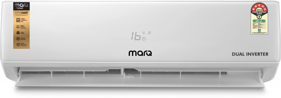 [HDFC Rs.25999] MarQ by Flipkart 1.5 Ton 5 Star Split Dual Inverter AC  - White(FKAC155SIAEXT, Copper Condenser) Rs.27999
