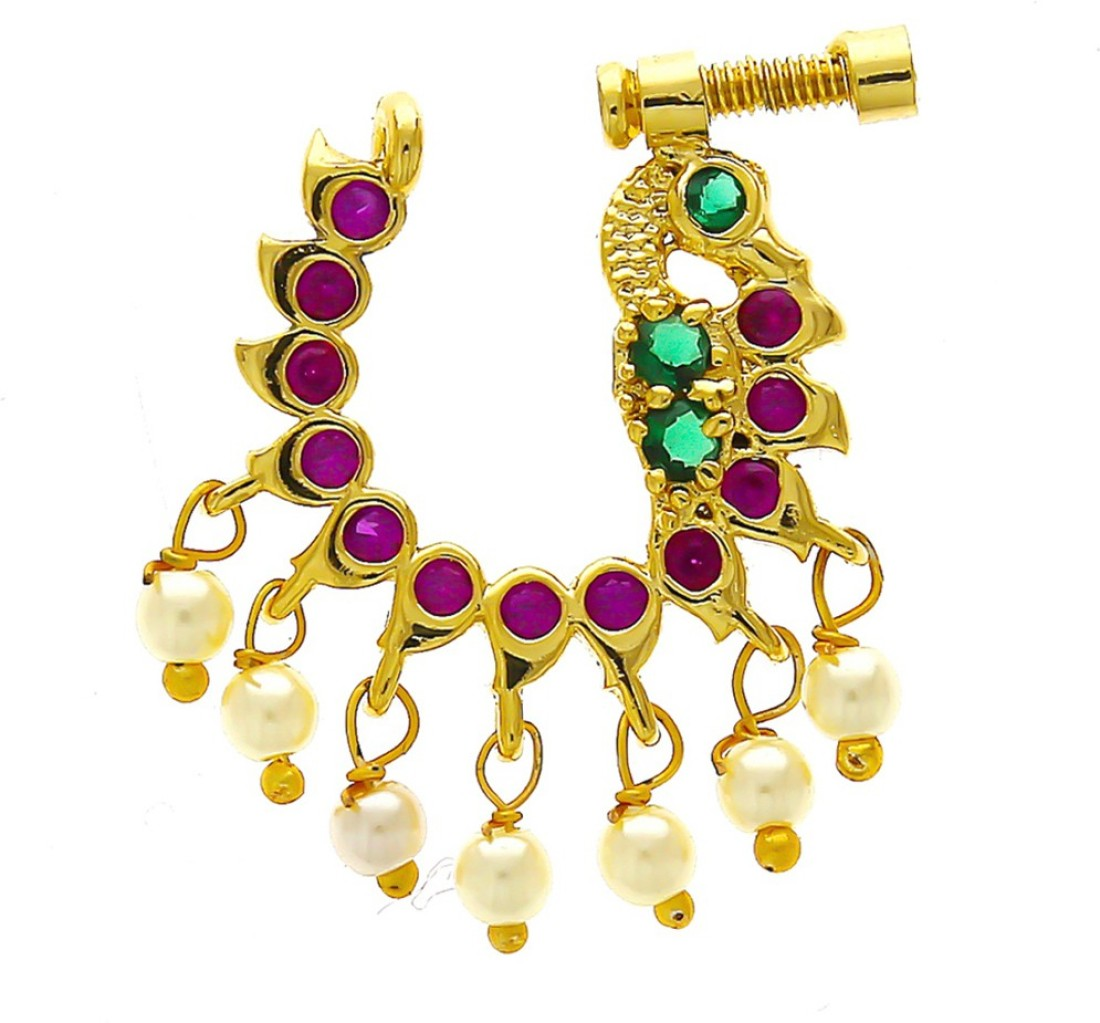 Anuradha Art Jewellery Metal Nose Ring Price In India Buy