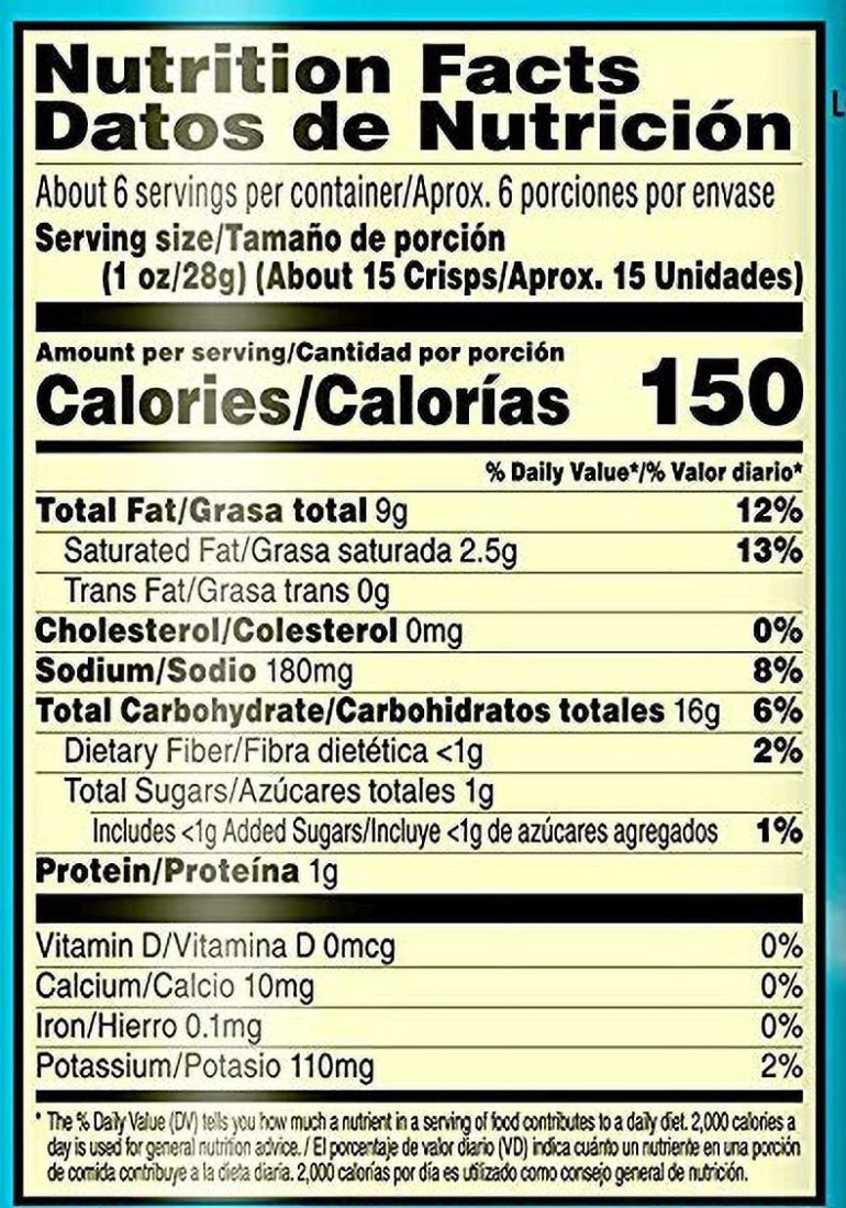 Pringles Salt & Vinegar Potato Crisps