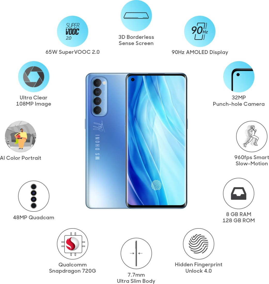 Oppo Reno 4 Pro Galactic Blue Edition features