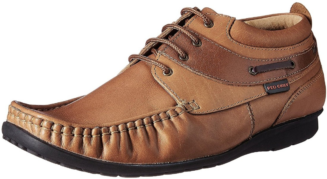 Red Chief RC1199 Men Tan Formal Lace Up