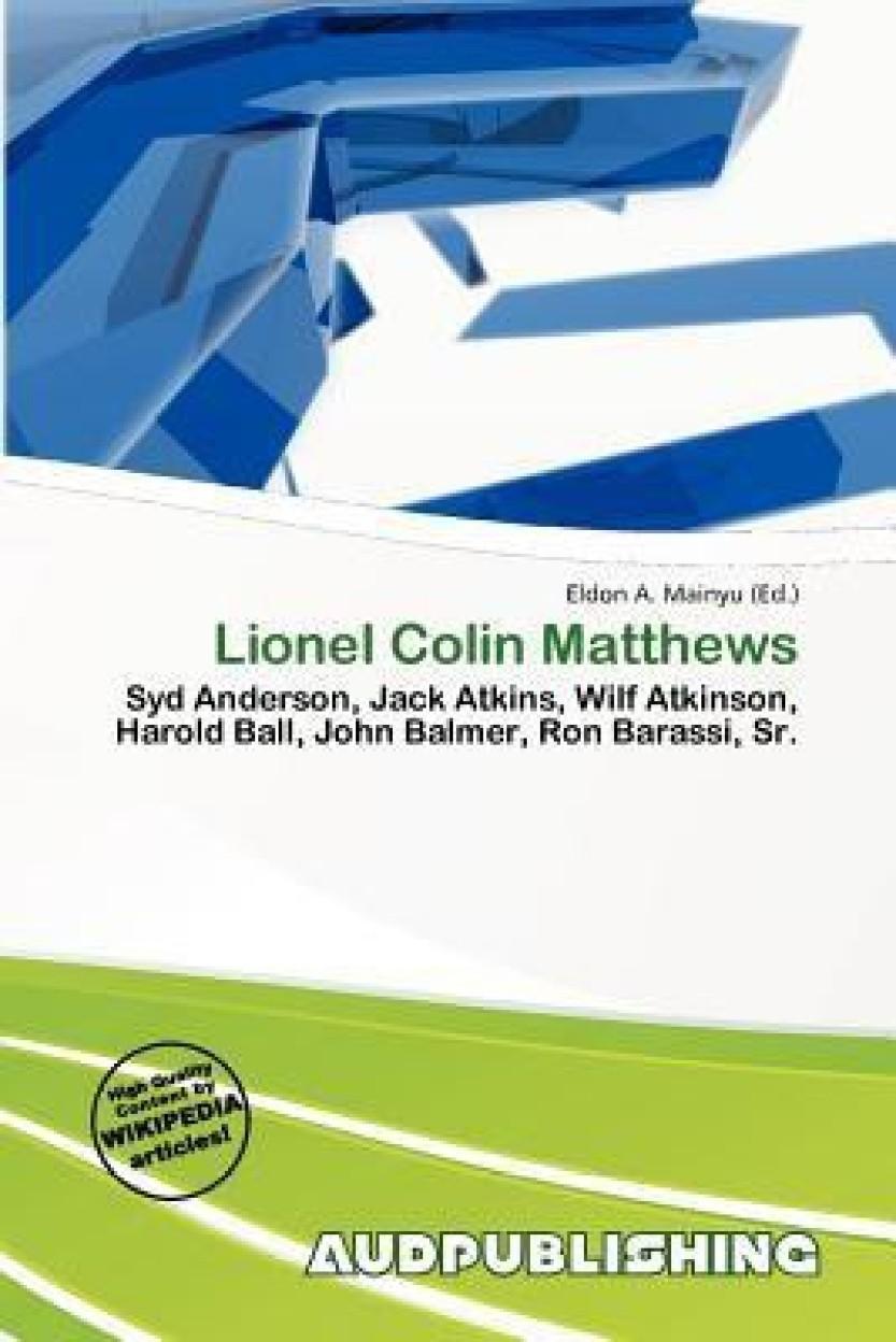 Lionel Colin Matthews