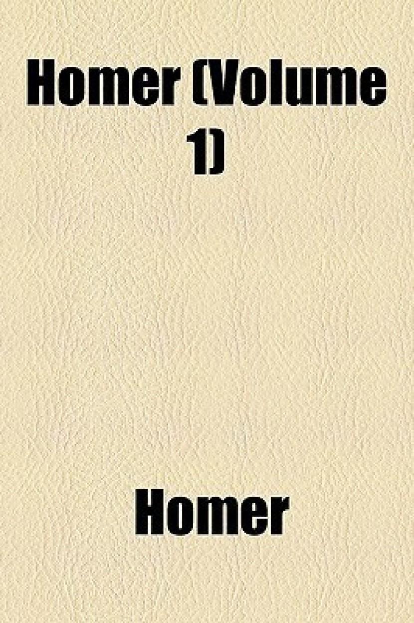 Homer (Volume 1)