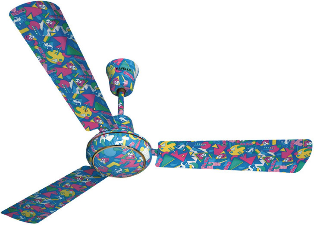 Havells Candy 3 Blade Ceiling Fan Funky Blue Image 2