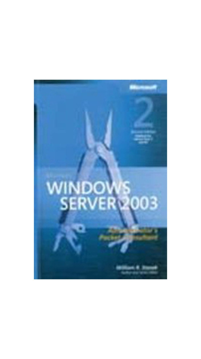 Microsoft Windows Server 2003 Administrator S Pocket Consultant by Stanek