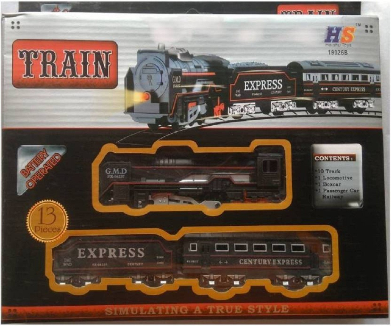 K Dudes Train Set With Round Track Battery Operated with Head Light DUDE-13