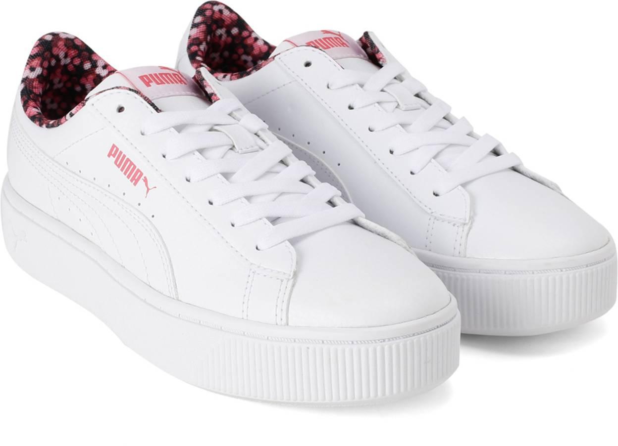 Rubicundo con las manos en la masa Guarda la ropa  Puma Vikky Stacked Neon Lights Sneakers For Women (White) | Buy Puma Vikky  Stacked Neon Lights Sneakers For Women (White) at shortlyst.com