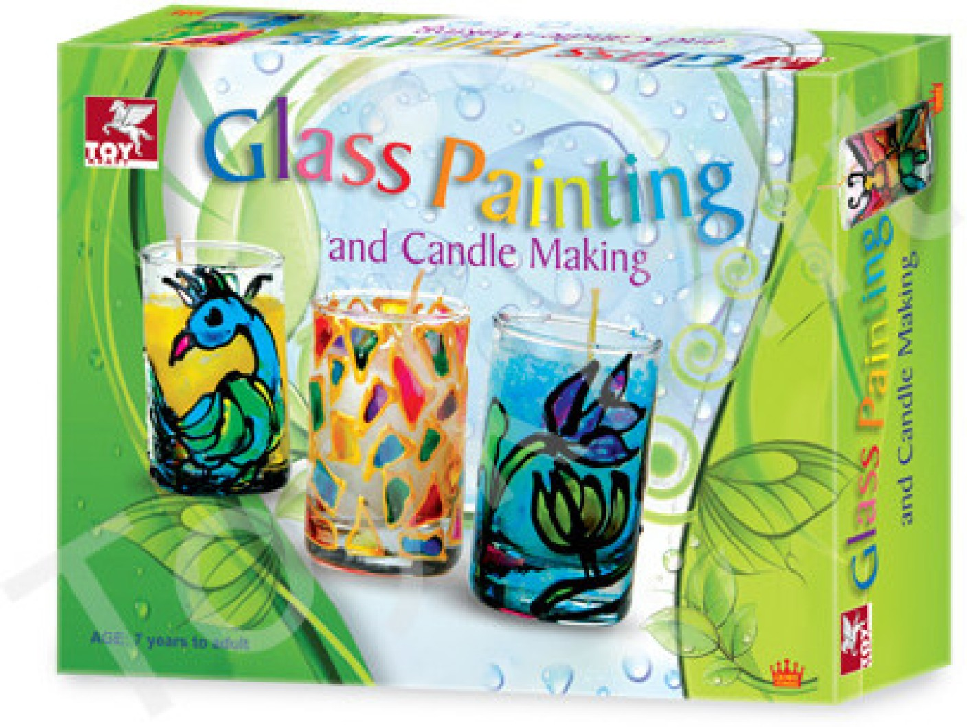 Toy kraft glass painting candle kit