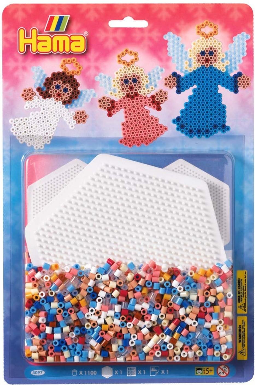 Hama midi hexagonal pegboard pack blister large