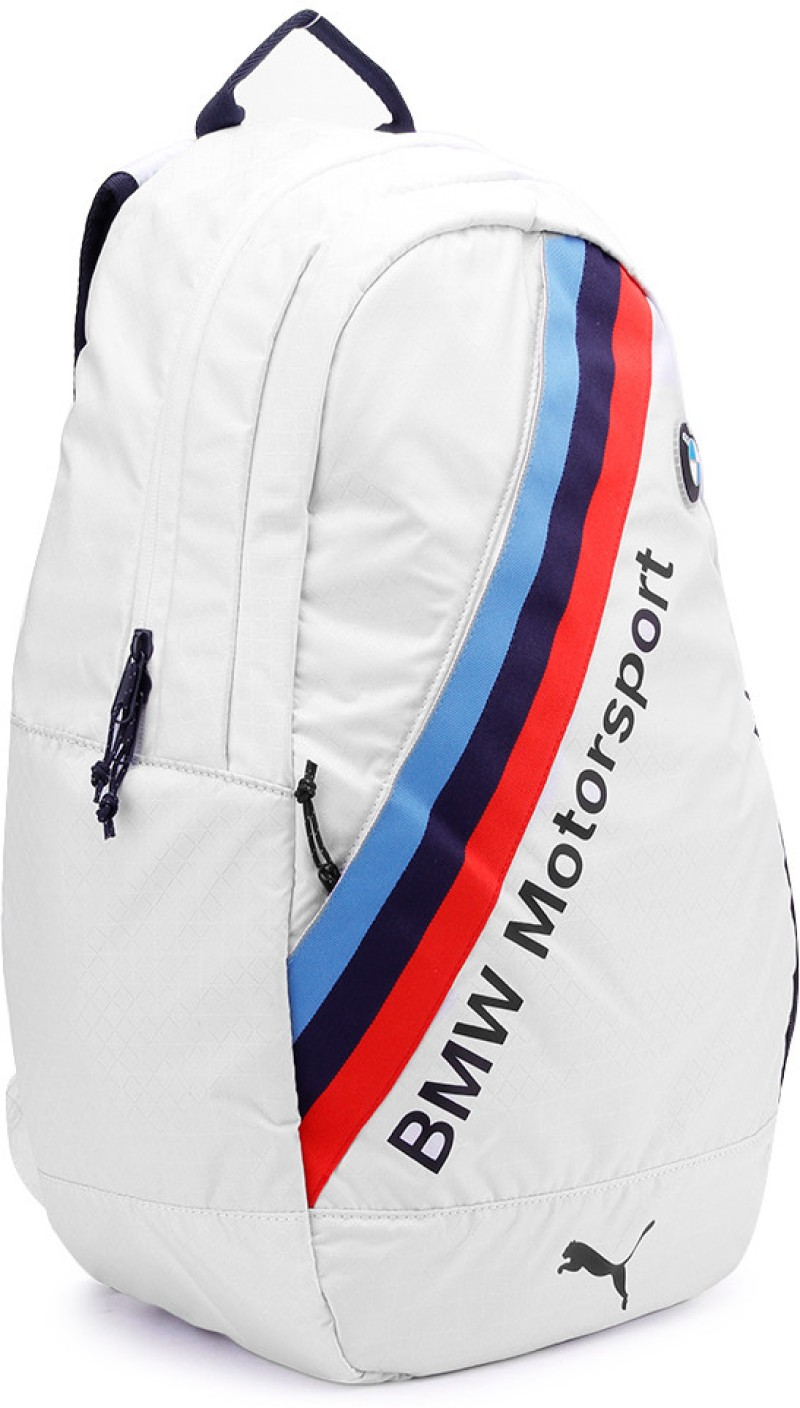 puma bmw motorsport backpack white and blue price in. Black Bedroom Furniture Sets. Home Design Ideas
