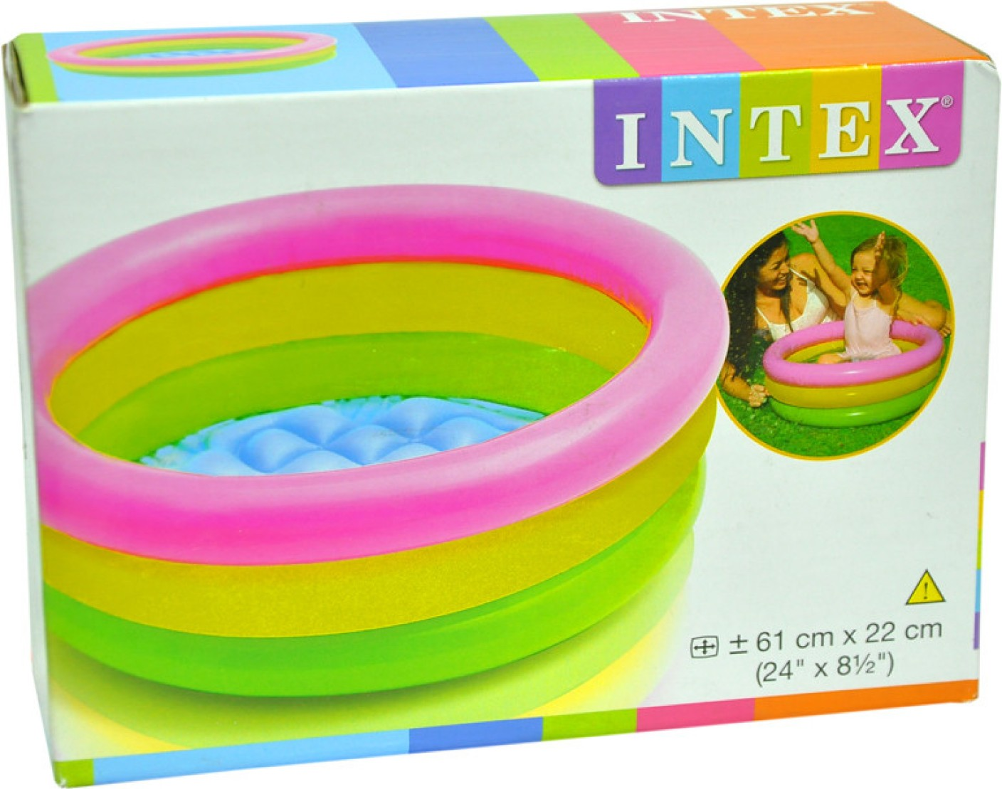 Intex Water Tub Inflatable Pool 2ft Diameter Baby Bath Seat Price In India Buy Intex Water Tub