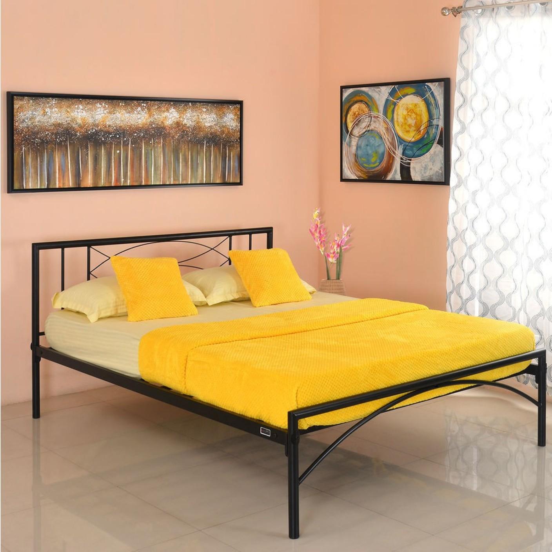 Nilkamal Bedroom Furniture Home By Nilkamal Ursa Metal Queen Bed Price In India Buy Home