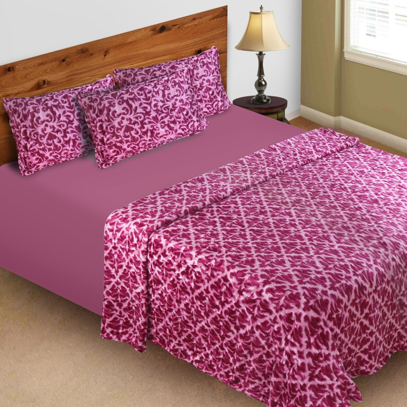 Barbie 3D Printed Double Quilt, Comforter Pink (AC Quilt, 1 AC Quilt with 2  pillow covers)