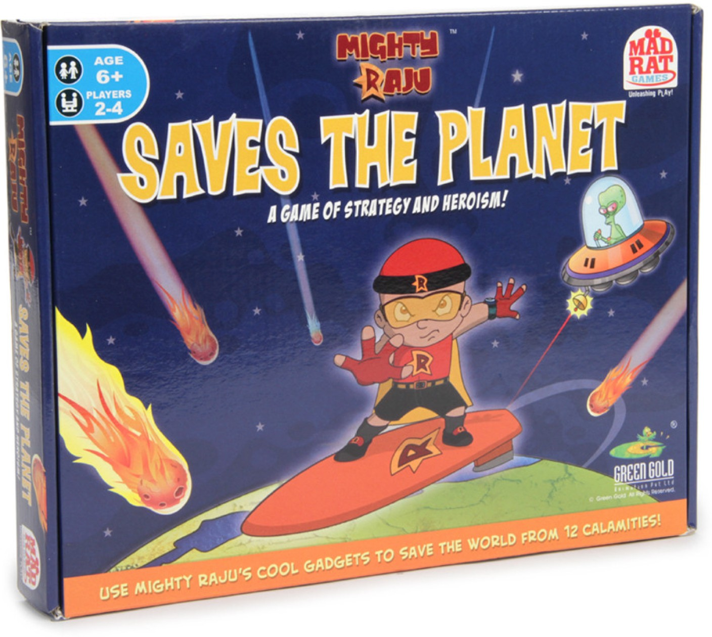MadRat Games Mighty Raju Saves the Planet Board Game ...