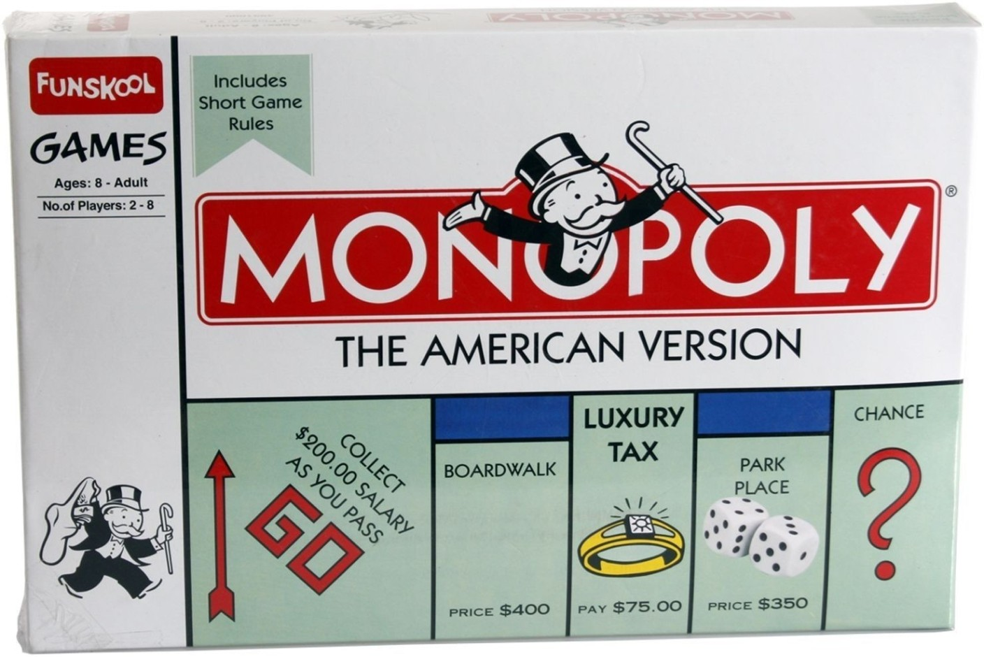 monopoly and american values Monopoly board game versions include: empire, junior, ultimate  and 3-d, and  the currency has much higher values, ranging up to five million  buy: click here  to buy monopoly here & now game: us edition on amazon.