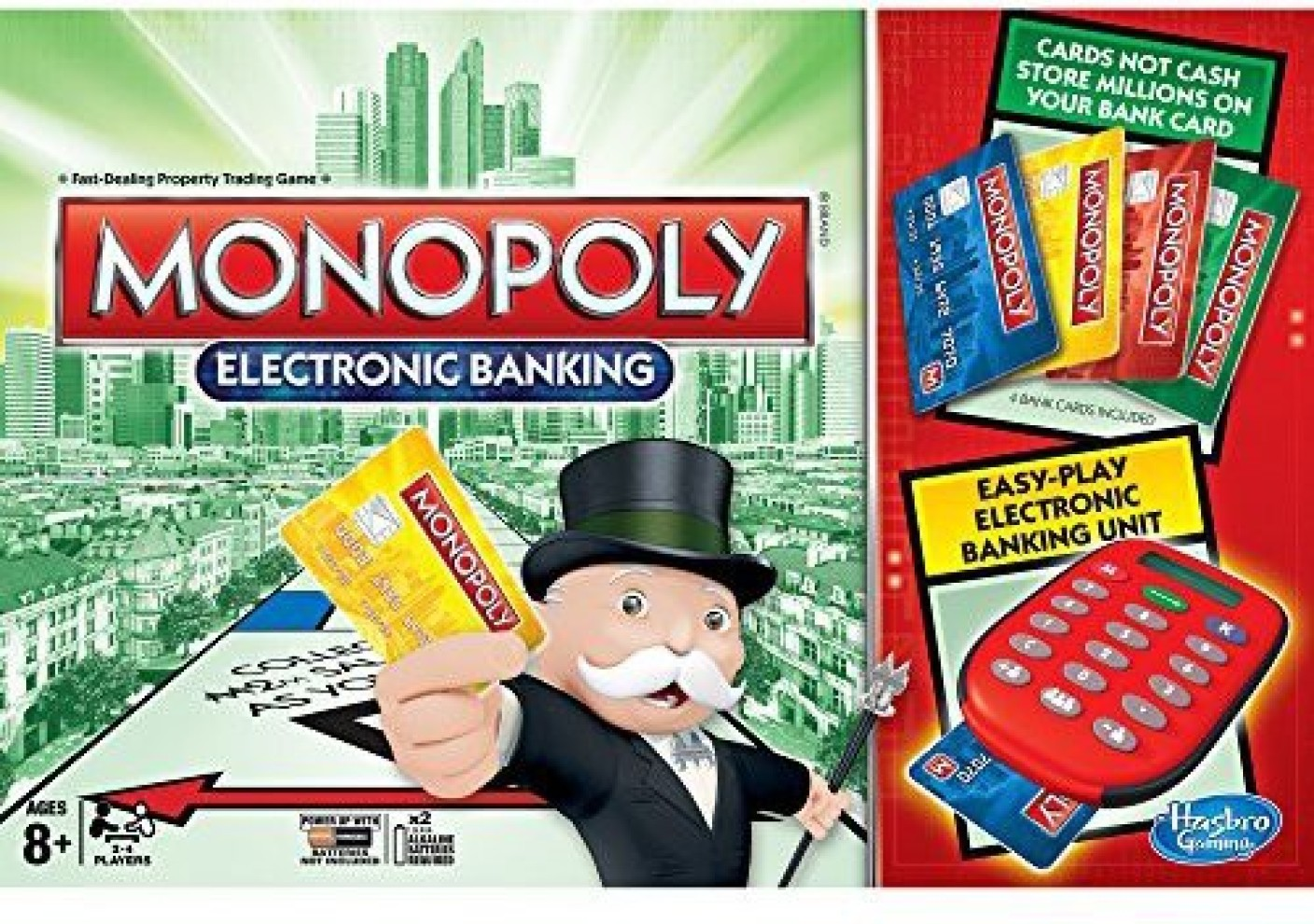 Hasbro monopoly electronic banking board game on offer