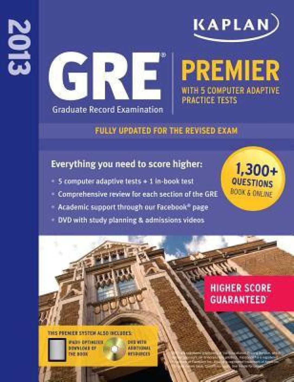 Workbooks kaplan gre verbal workbook : Kaplan GRE Premier 2013 - Buy Kaplan GRE Premier 2013 by Kaplan ...