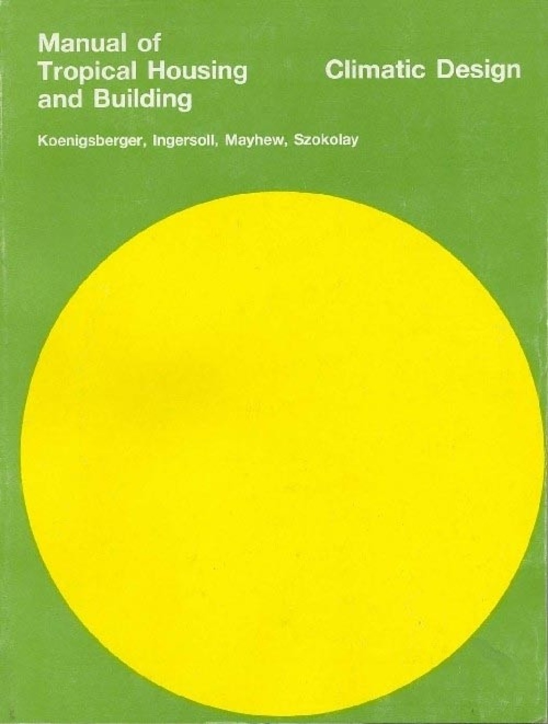 manual of tropical housing & building climatic design pb 01